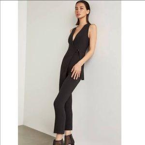 BCBG MaxAzria Black wrap front jumpsuit Sz Small